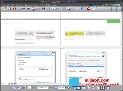 Captură de ecran Nuance PDF Reader pentru Windows 8