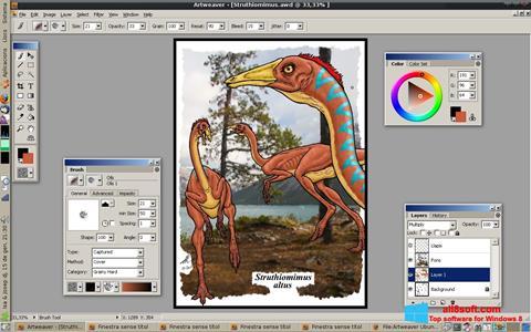 Captură de ecran Artweaver pentru Windows 8