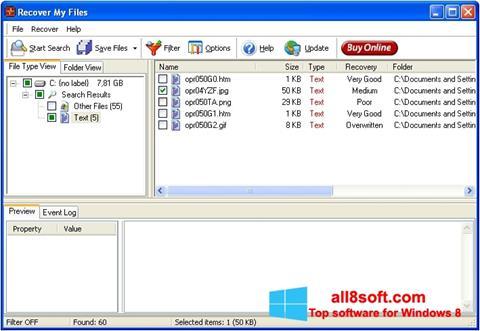 Captură de ecran Recover My Files pentru Windows 8