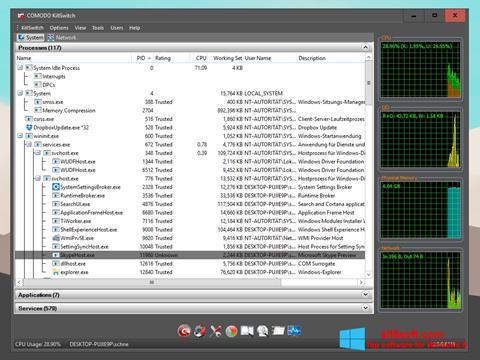 Captură de ecran Comodo Cleaning Essentials pentru Windows 8