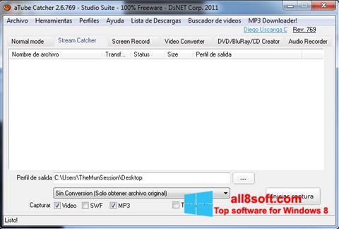 Captură de ecran aTube Catcher pentru Windows 8