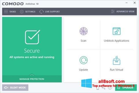 Captură de ecran Comodo Antivirus pentru Windows 8