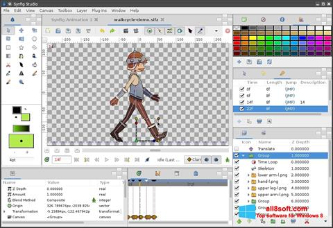Captură de ecran Synfig Studio pentru Windows 8