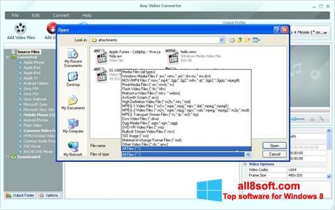 Captură de ecran Any Video Converter pentru Windows 8