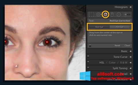 Captură de ecran Red Eye Remover pentru Windows 8