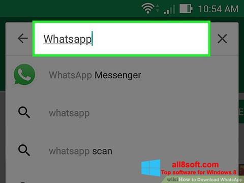 Captură de ecran WhatsApp pentru Windows 8