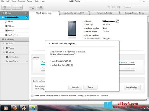 Captură de ecran LG PC Suite pentru Windows 8