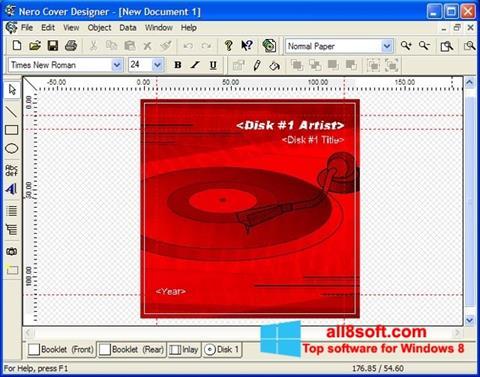 Captură de ecran Nero Cover Designer pentru Windows 8