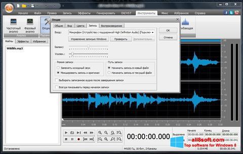 Captură de ecran AVS Audio Editor pentru Windows 8