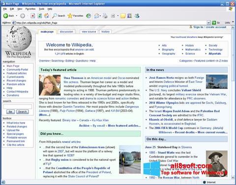 Captură de ecran Internet Explorer pentru Windows 8