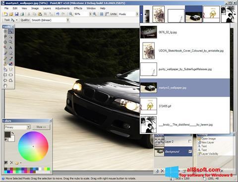 Captură de ecran Paint.NET pentru Windows 8