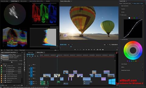 Captură de ecran Adobe Premiere Pro pentru Windows 8