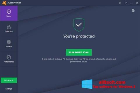 Captură de ecran Avast Premier pentru Windows 8