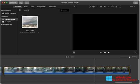 Captură de ecran iMovie pentru Windows 8