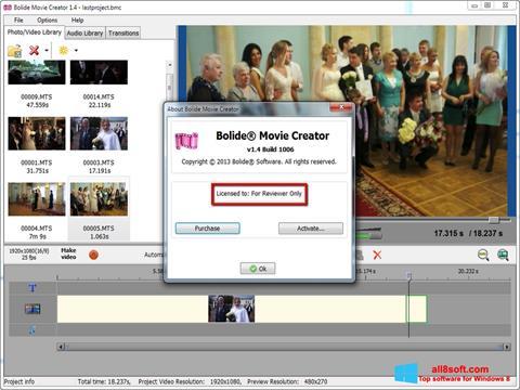 Captură de ecran Bolide Movie Creator pentru Windows 8