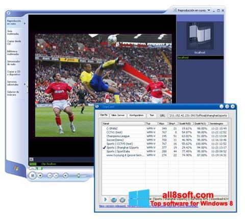 Captură de ecran SopCast pentru Windows 8