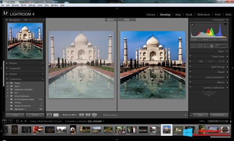 Captură de ecran Adobe Photoshop Lightroom pentru Windows 8