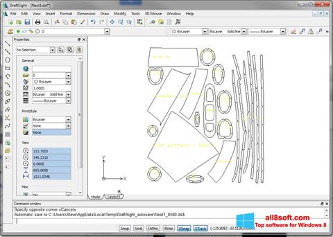 Captură de ecran DraftSight pentru Windows 8