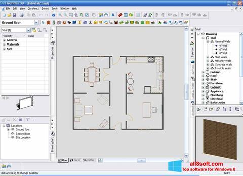 Captură de ecran FloorPlan 3D pentru Windows 8