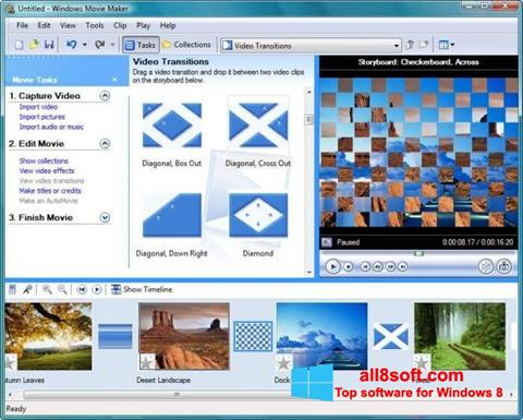 Captură de ecran Windows Movie Maker pentru Windows 8