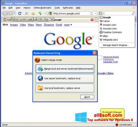 Captură de ecran CometBird pentru Windows 8