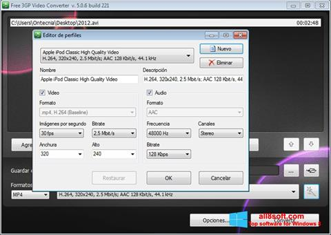 Captură de ecran Free MP4 Video Converter pentru Windows 8