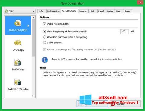 Captură de ecran Nero Image Drive pentru Windows 8