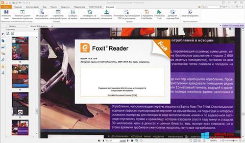 Captură de ecran Foxit Reader pentru Windows 8