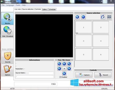 Captură de ecran webcamXP pentru Windows 8
