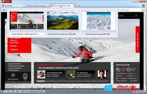 Captură de ecran Opera pentru Windows 8