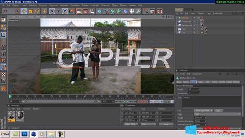 Captură de ecran CINEMA 4D pentru Windows 8