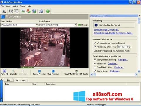Captură de ecran WebCam Monitor pentru Windows 8