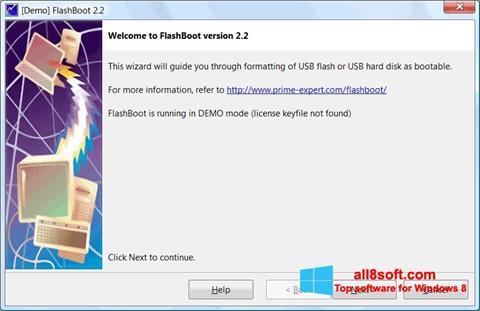 Captură de ecran FlashBoot pentru Windows 8