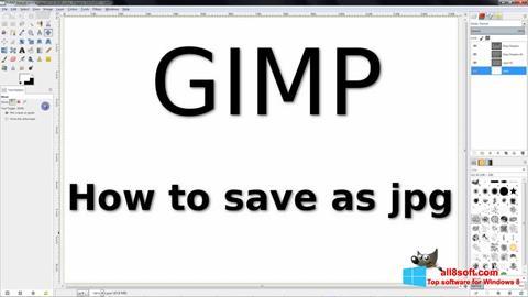 Captură de ecran GIMP pentru Windows 8