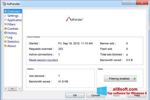 Captură de ecran AdFender pentru Windows 8