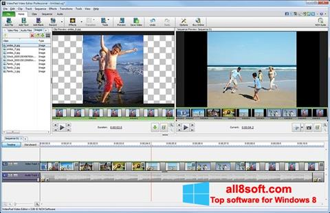 Captură de ecran VideoPad Video Editor pentru Windows 8