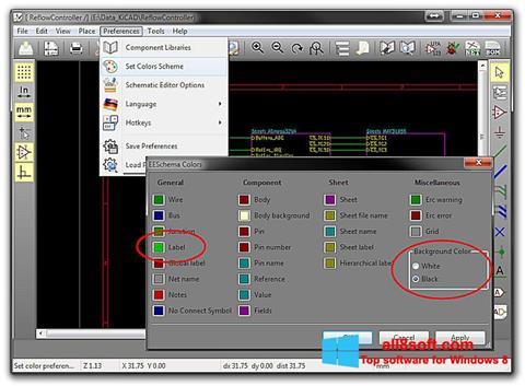 Captură de ecran KiCad pentru Windows 8