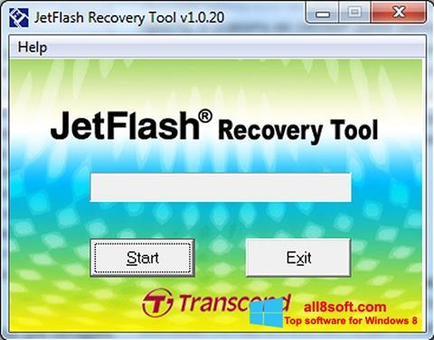 Captură de ecran JetFlash Recovery Tool pentru Windows 8