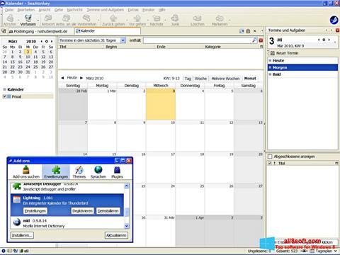 Captură de ecran SeaMonkey pentru Windows 8