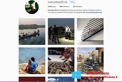 Captură de ecran Instagram pentru Windows 8