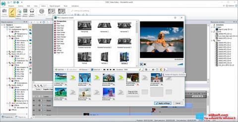 Captură de ecran VSDC Free Video Editor pentru Windows 8