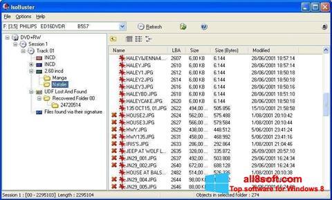 Captură de ecran IsoBuster pentru Windows 8