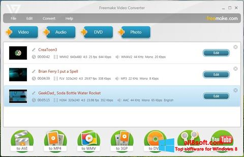 Captură de ecran Freemake Video Converter pentru Windows 8