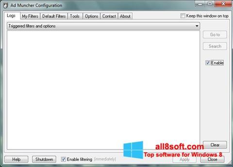 Captură de ecran Ad Muncher pentru Windows 8