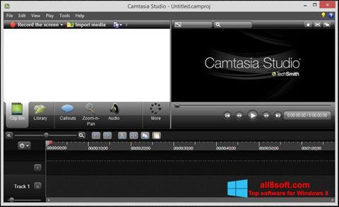 Captură de ecran Camtasia Studio pentru Windows 8
