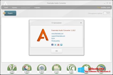 Captură de ecran Freemake Audio Converter pentru Windows 8