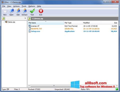 Captură de ecran IZArc pentru Windows 8