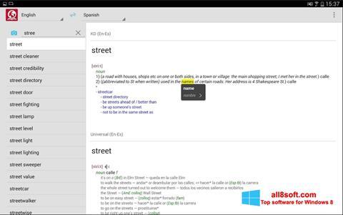 Captură de ecran ABBYY Lingvo pentru Windows 8