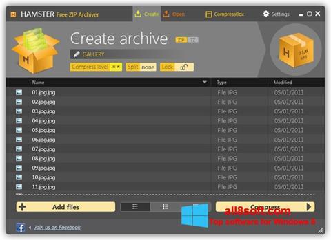 Captură de ecran Hamster Free ZIP Archiver pentru Windows 8