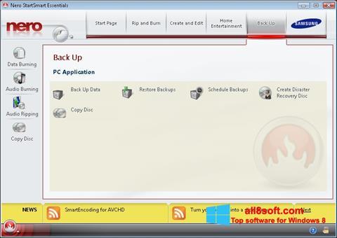 Captură de ecran Nero pentru Windows 8